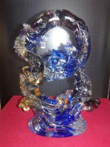 Benda Fengshui Naga Kristal Biru