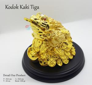 Benda Fengshui - Kodok Kaki Tiga