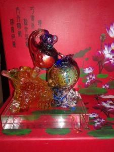 Benda Fengshui Kodok Hulu Kristal